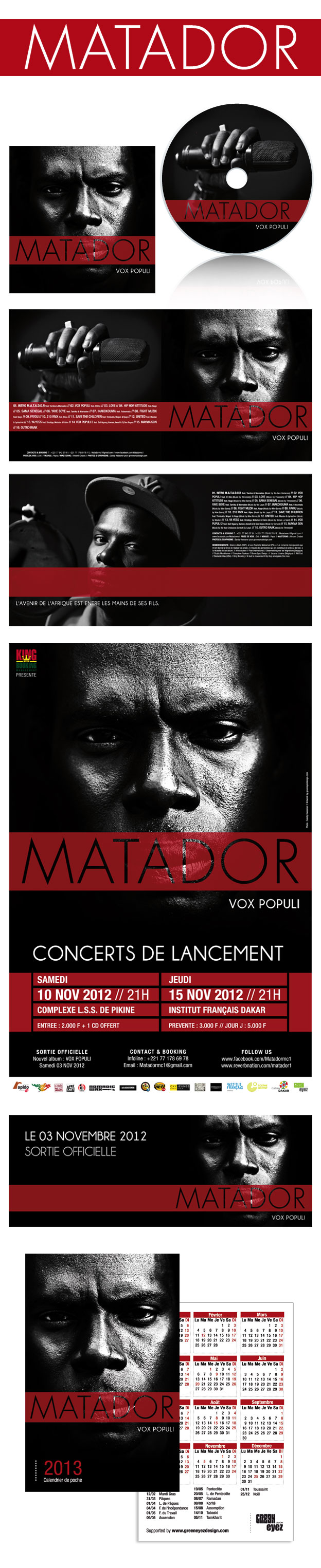 Matador CD Artwork